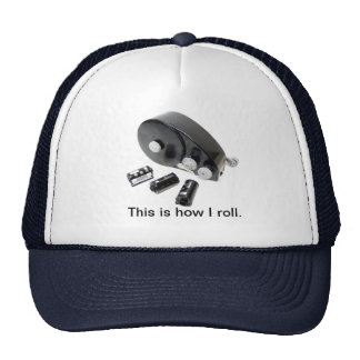 """""""This is how I roll."""" 35mm Film Loader Hat"""