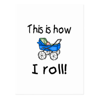 This Is How I Roll (Buggy) Postcard