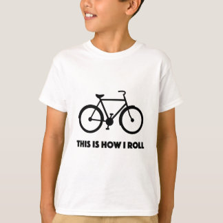 This is how I roll cool cycling biker shirt