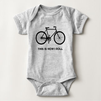 This Is How I Roll Cycling Baby Bodysuit