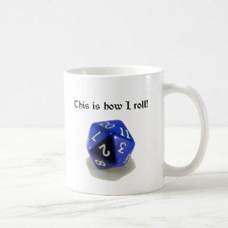 This Is How I Roll (d20) Basic White Mug