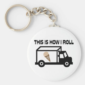 This Is How I Roll Ice Cream Truck Basic Round Button Key Ring