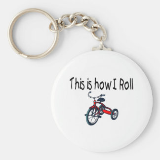 This Is How I Roll (Red Tricycle) Basic Round Button Key Ring