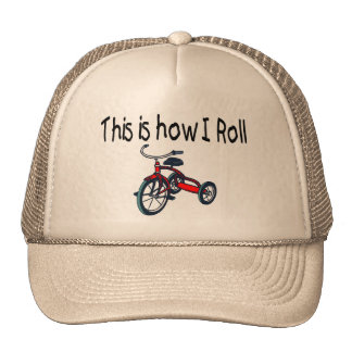 This Is How I Roll (Red Tricycle) Hats