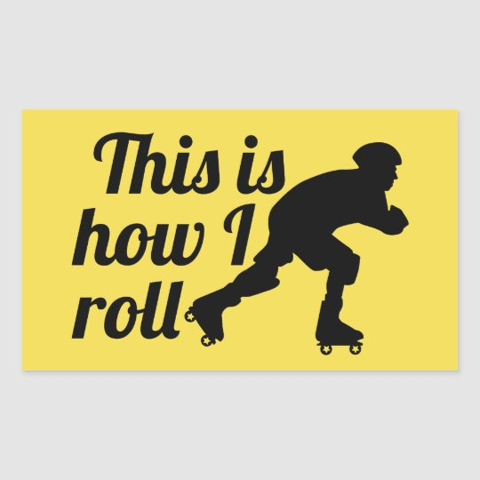 This is how I roll, Roller Derby skater Rectangular Sticker
