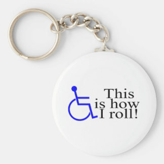 This Is How I Roll Wheelchair Key Ring