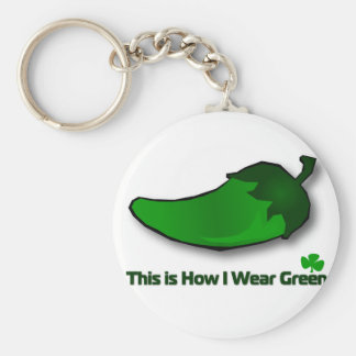 This is How I Wear Green Keychain