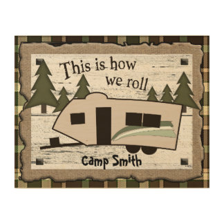 This is How We Roll Wood Wall Art