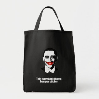 THIS IS MY ANTI-OBAMA BUMPER STICKER GROCERY TOTE BAG