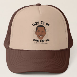 This is my Barack Obama Costume - I couldn't find  Trucker Hat