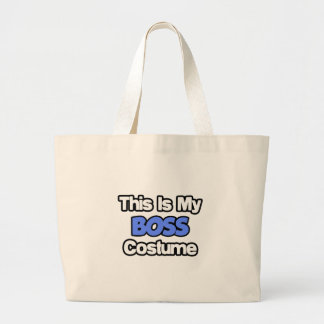 This Is My Boss Costume Canvas Bags