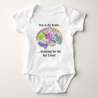 This is my brain...Bar Exam Baby Bodysuit