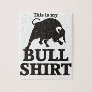 This is my Bull Shirt Jigsaw Puzzle