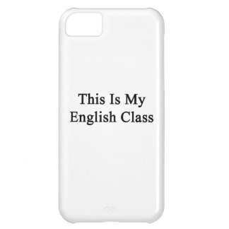 This Is My English Class iPhone 5C Covers