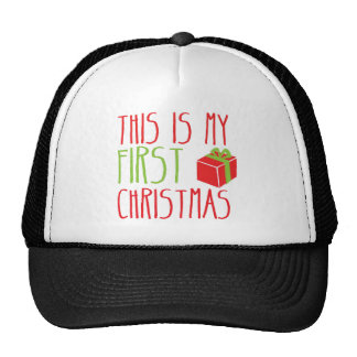 This is my FIRST Christmas newborn baby Xmas Hat