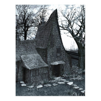 This Is My Happy Place Gothic Art Postcard