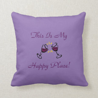 This Is My Happy Place! Lavender Cushion
