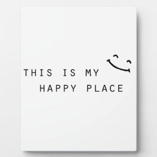 this is my happy place simple modern design display plaques