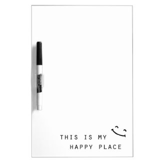this is my happy place simple modern design dry erase board