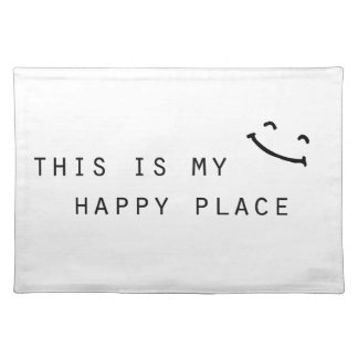 this is my happy place simple modern design placemat