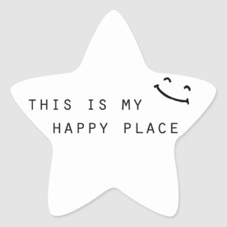 this is my happy place simple modern design star sticker