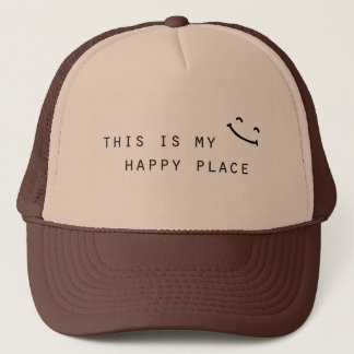this is my happy place simple modern design trucker hat