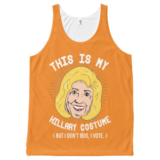 This is my Hillary Costume But I don't boo I vote  All-Over Print Singlet