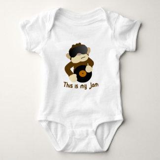 This is my jam, Monkey Baby Bodysuit