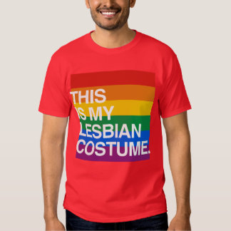 THIS IS MY LESBIAN COSTUME T SHIRT