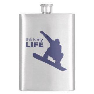 This Is My Life (Snowboarding) Hip Flask