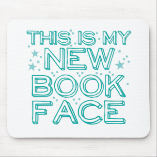 this is my new book face mouse pad