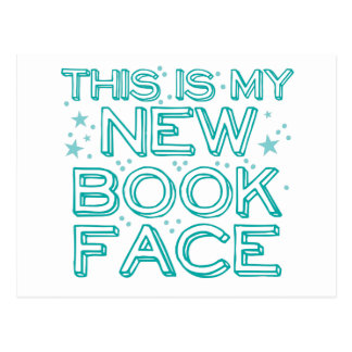 this is my new book face postcard