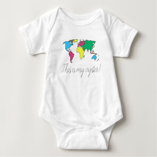 This is My Oyster World Map Baby Toddler Bodysuit