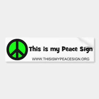 This Is My Peace Sign Bumper Sticker