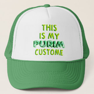 This is my Purim Custome Trucker Hat