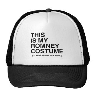 THIS IS MY ROMNEY COSTUME TRUCKER HAT