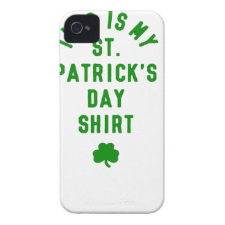 THIS IS MY ST. PATRICK'S DAY SHIRT G iPhone 4 Case-Mate CASE