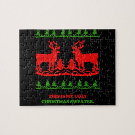 This is my ugly Christmas Sweater Jigsaw Puzzle