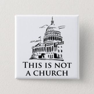 this is not a church 15 cm square badge