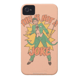 This Is Not A Joke Case-Mate iPhone 4 Cases