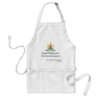 This is not a Royal Wedding commemorative apron