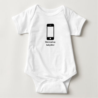 This is not my babysitter baby bodysuit