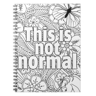 this is not normal spiral notebook