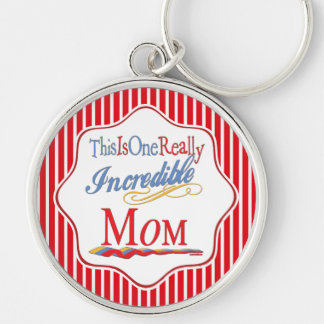 This Is One Really Incredible Mom Gift Collection Silver-Colored Round Key Ring