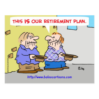 This is our retirement plan url postcard