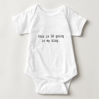 this is SO going in my blog. Baby Bodysuit