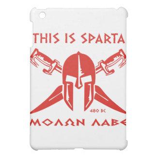 This is Sparta - Molon Lave - Red iPad Mini Case