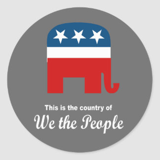 This is the country of We the People Round Stickers