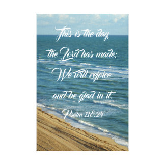 This is the Day Bible Scripture Beach Christian Canvas Print