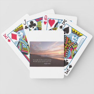 this is the day bicycle playing cards